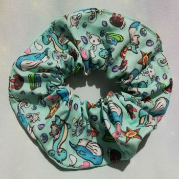Scrunchie Made With Water Pokemon Inspired Fabric