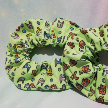 Scrunchie Made With Animal Crossing Fabric - Exclusive