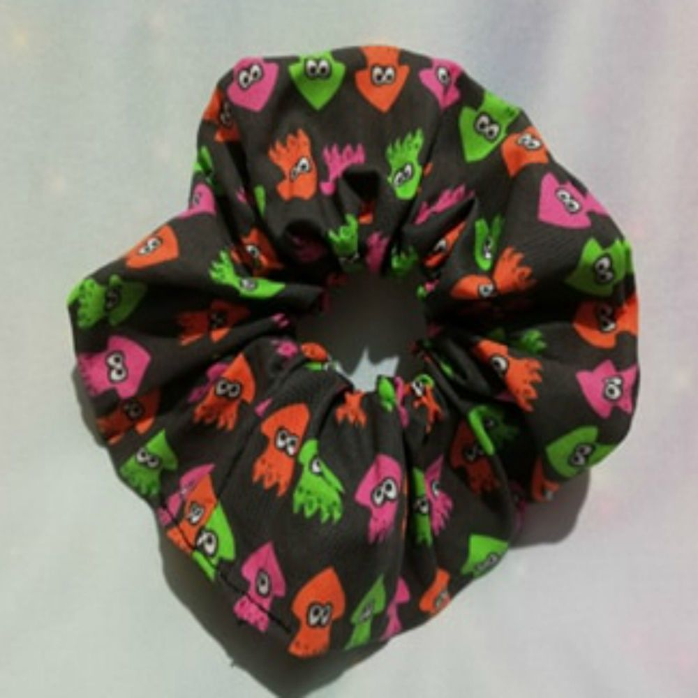 Scrunchie Made With Splatoon Inspired Fabric - Squids