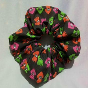 Scrunchie Made With Splatoon Inspired Fabric - Squids