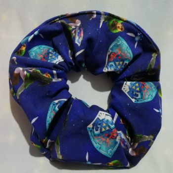 Scrunchie Made With The Legend Of Zelda Fabric - Blue
