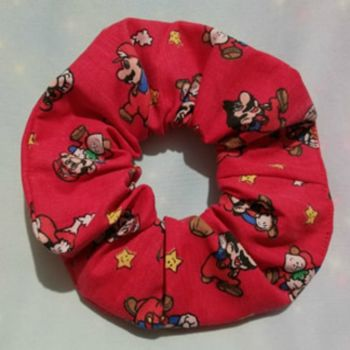 Scrunchie Made With Vintage Super Mario World Fabric