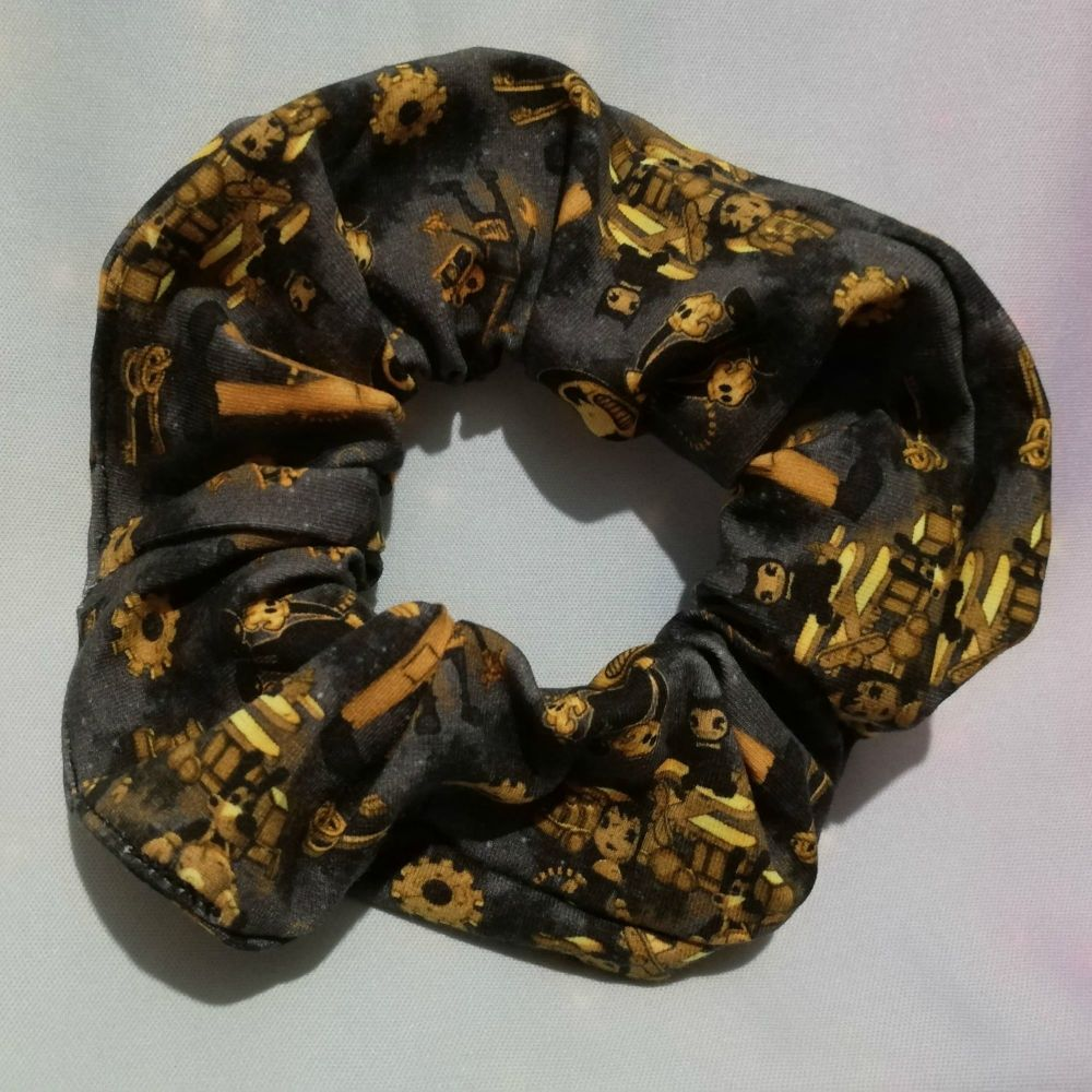 Scrunchie Made With Bendy Inspired Fabric