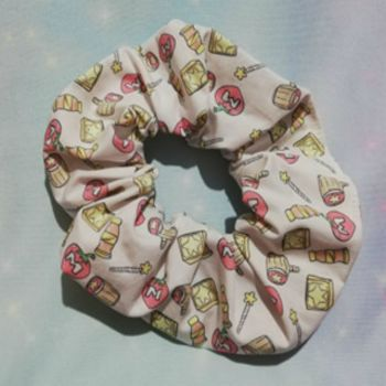 Scrunchie Made With Kirby Inspired Fabric - Mega Mix