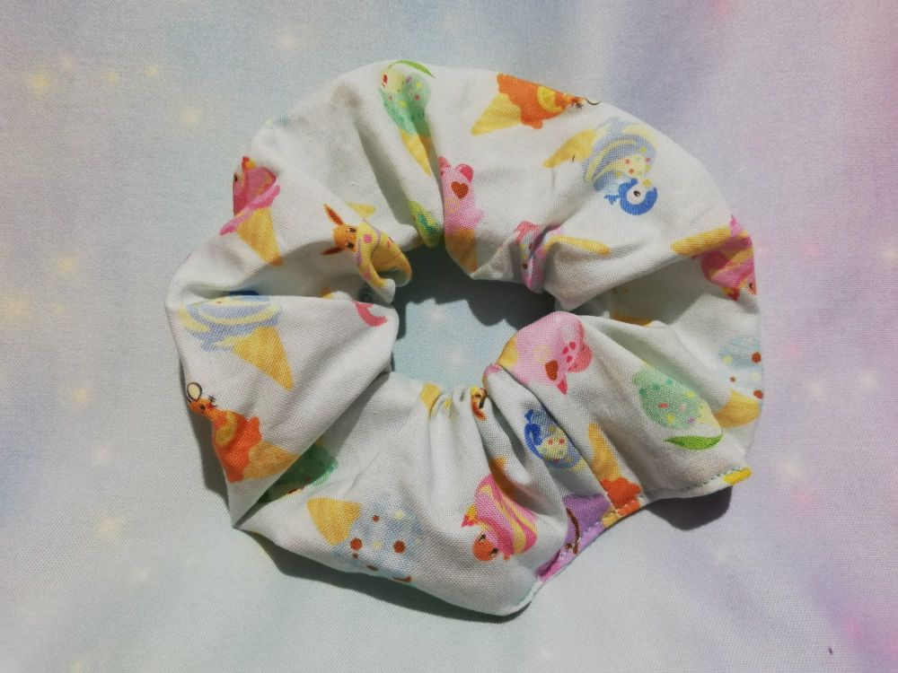 Scrunchie Made With Pokemon Fabric - Icecreams