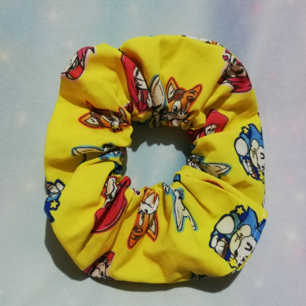 Scrunchie Made With Sonic The Hedgehog Inspired Fabric - Exclusive