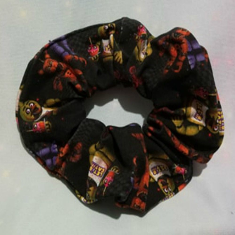 Scrunchie Made With Five Nights At Freddies Inspired Fabric