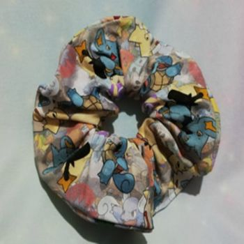 Scrunchie Made With Pokemon Inspired Fabric - stand Out