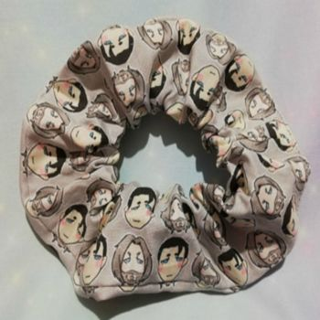 Scrunchie Made With Small Scale Detroit Become Human Fabric