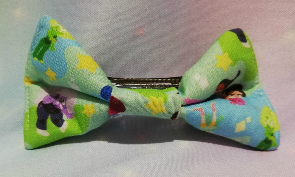 Hair Bow Made With Stephen Universe Inspired Fabric