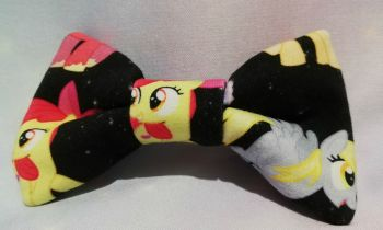 Hair Bow Made With My Little Pony Inspired Fabric - Black