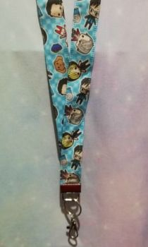 Lanyard Made With Yuri On Ice Inspired Fabric - long