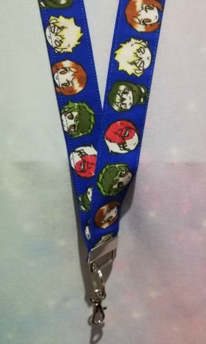 Lanyard made with My Hero Academia Fabric - Heroes