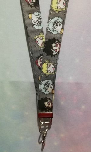 Lanyard made with My Hero Academia Inspired Fabric - Villains