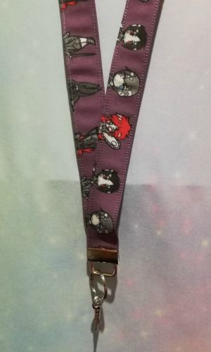 Lanyard made with Black Butler Inspired Fabric - Exclusive