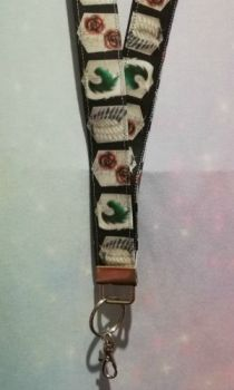 Lanyard made with Attack On Titan Inspired Fabric