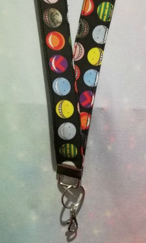 Lanyard made with Assassination Classroom Inspired Fabric