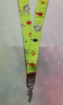 Lanyard Made With Pikmin Inspired Fabric - Exclusive