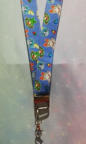 Lanyard made with Pokemon Inspired Fabric - Galar Region Exclusive