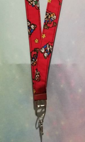 Lanyard Made With Vintage Super Mario World Fabric