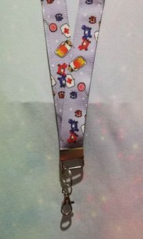 Lanyard made with Team Fortress 2 Inspired Fabric