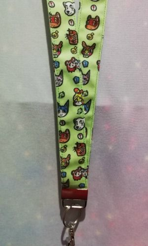 Lanyard Made With Animal Crossing Inspired Fabric