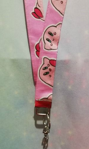 Lanyard made with Kirby Inspired Fabric - Exclusive