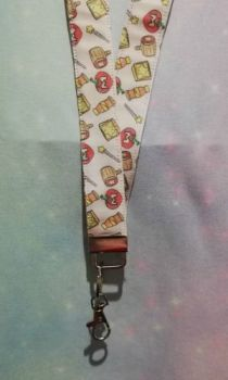 Lanyard made with Kirby Inspired Fabric - Mega Mix Exclusive