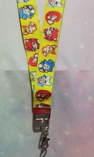 Lanyard made with Sonic The Hedgehog Inspired Fabric - Exclusive