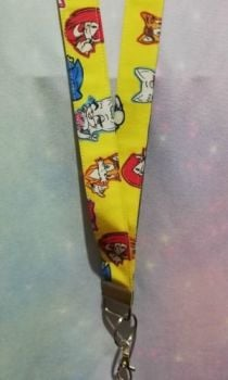 Lanyard made with Sonic The hedgehog Inspired Fabric - Yellow Exclusive - Long