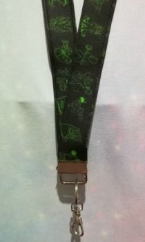 Lanyard made with Fallout Inspired Fabric - Perks