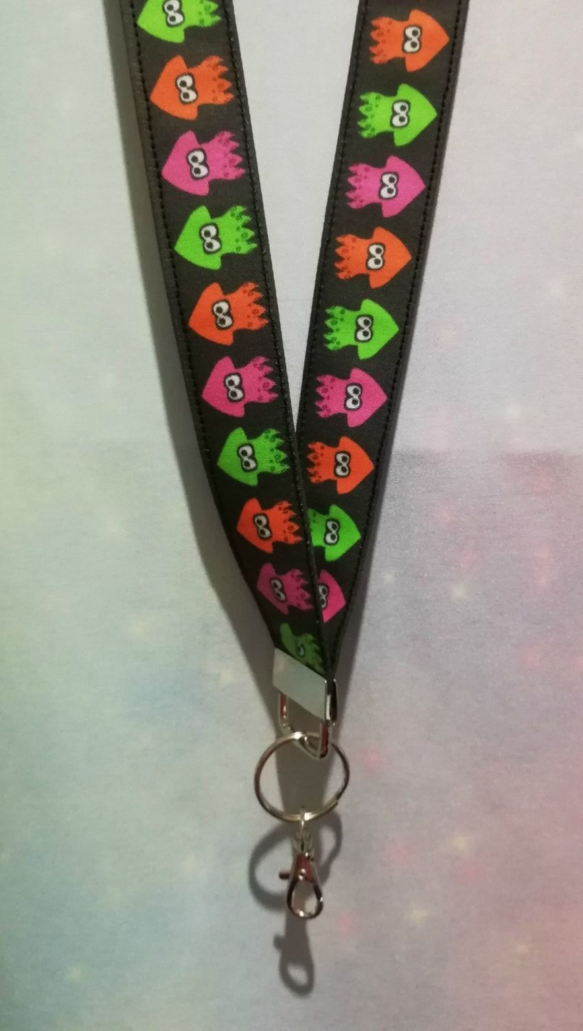 Lanyard Made With Splatoon Squids Inspired Fabric - Exclusive