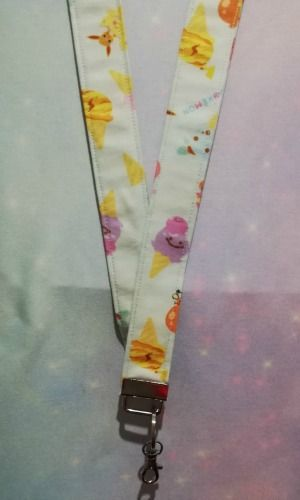 Lanyard made with Pokemon Fabric - Ice Cream
