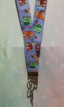 Lanyard made with Pokemon Fabric - Kanto Region Exclusive