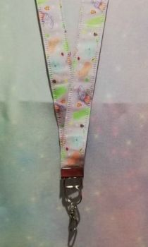 Lanyard made with Kawaii Controllers Fabric - Exclusive