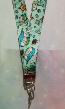 Lanyard Made With Water Pokemon Inspired Fabric - Exclusive