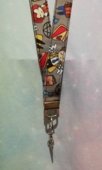Lanyard Made With Supernatural Inspired Fabric