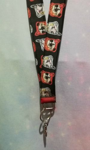 Lanyard made with Good Omens Inspired Fabric - Exclusive
