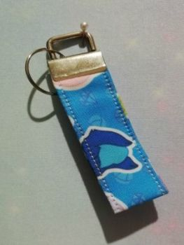Key Fob Made With Stephen Universe Inspired Fabric - Blue