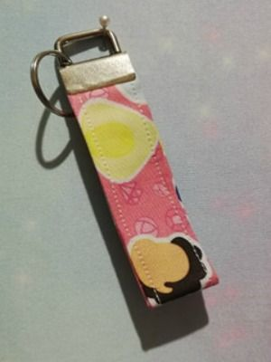 Key Fob Made With Stephen Universe inspired Fabric - Pink