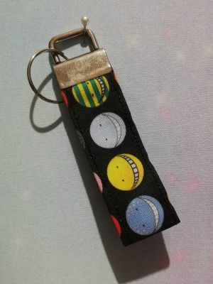 Key Fob Made With Assassination Classroom Inspired Fabric