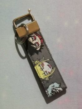 Key Fob Made With My Hero Academia villains Inspired Fabric - Exclusive