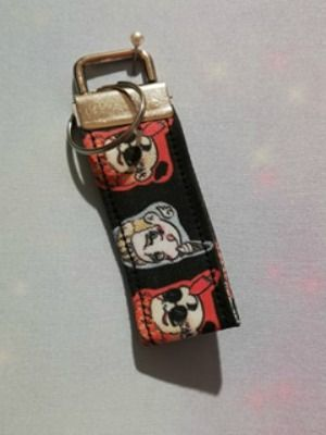 Key Fob Made With Good Omens Inspired Fabric