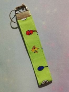 Key Fob Made With Pikmin Inspired Fabric - Exclusive