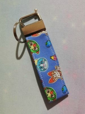 Key Fob Made With Pokemon Galar Region Inspired Fabric - Exclusive