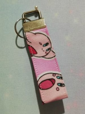 Key Fob Made With Kirby Inspired Fabric - Exclusive