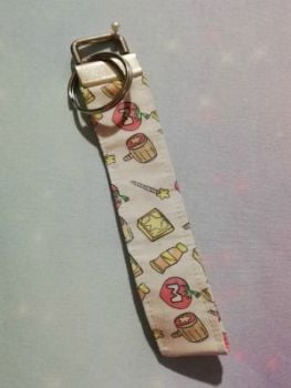 Key Fob Made With Kirby Dreamland Inspired Fabric - Exclusive