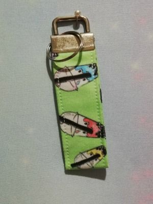 Key Fob Made With Bubble Tea Fabric - Exclusive