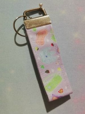 Key Fob Made With Kawaii Controller Fabric - Exclusive