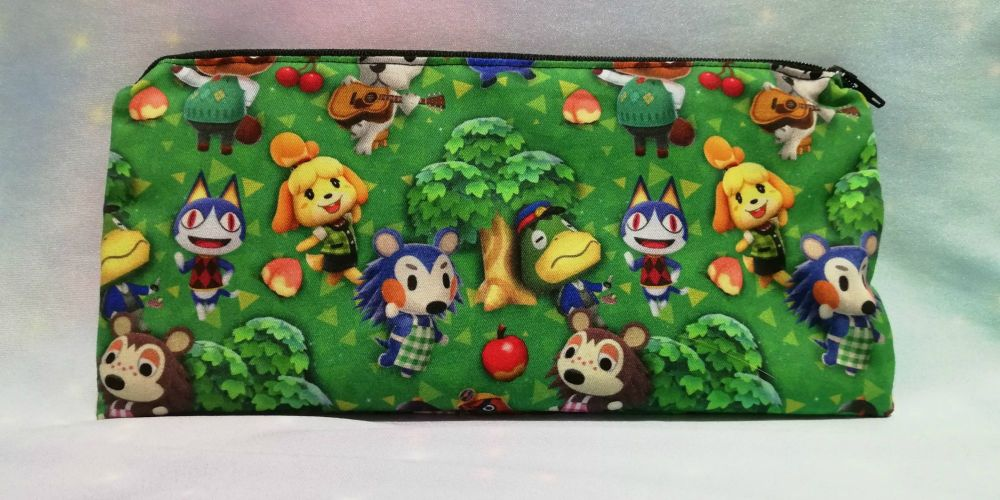 Pencil Case Made With Animal Crossing Inspired Fabric